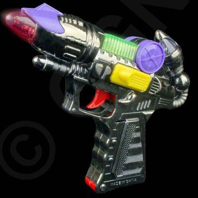 6 Inch Costume Plastic Space Gun w Lights Sound