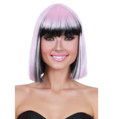 Ombre Bob Two-Tone Pink Black Wig