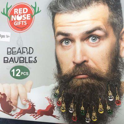 Christmas Beard Hair Ornament Baubles