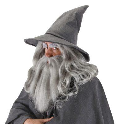 Deluxe Gray Felt Hobbit Gandalf Wizard Hat