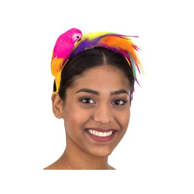Costume Feathered Parrot Headband