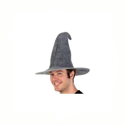 Soft Gray Felt Wizard Hat