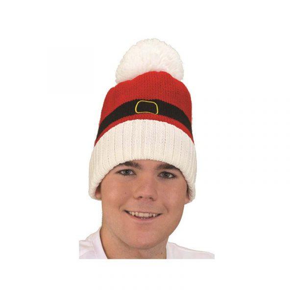 Santa Theme Soft Knit Cap