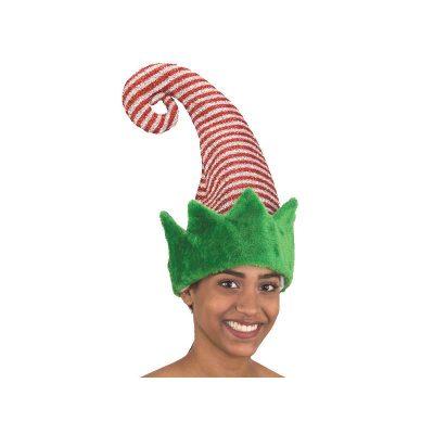Sparkle Plush Fabric Curled Top Elf Hat