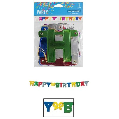 Happy Birthday Foil Letter Jointed Banner