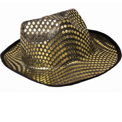 Gold Sequin Fedora Hat