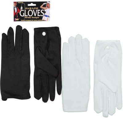 Nylon Parade Gloves with Snaps