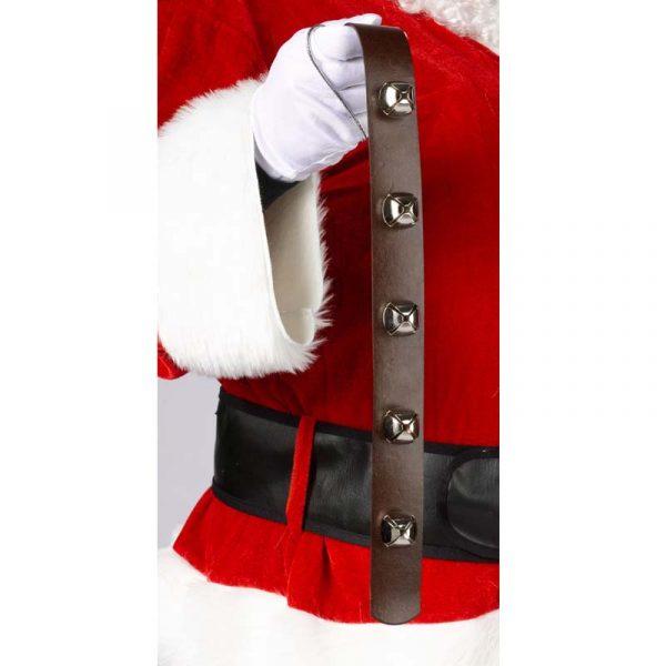 Promo Bell Strap Silver Jingle Bells on Brown Strap