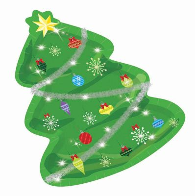 Christmas Tree Shaped Paper Plates