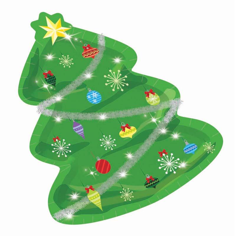 Christmas Tree Shaped Paper Plates