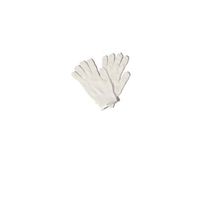 White Knit Santa Gloves One Size