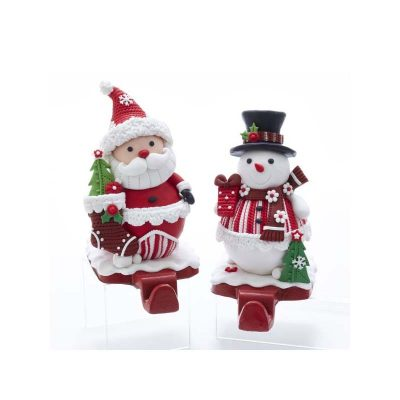 6 Inch Claydough Christmas Figure Stocking Hanger