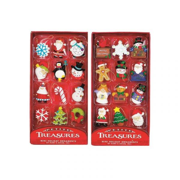 Mini Assorted Resin Holiday Ornaments