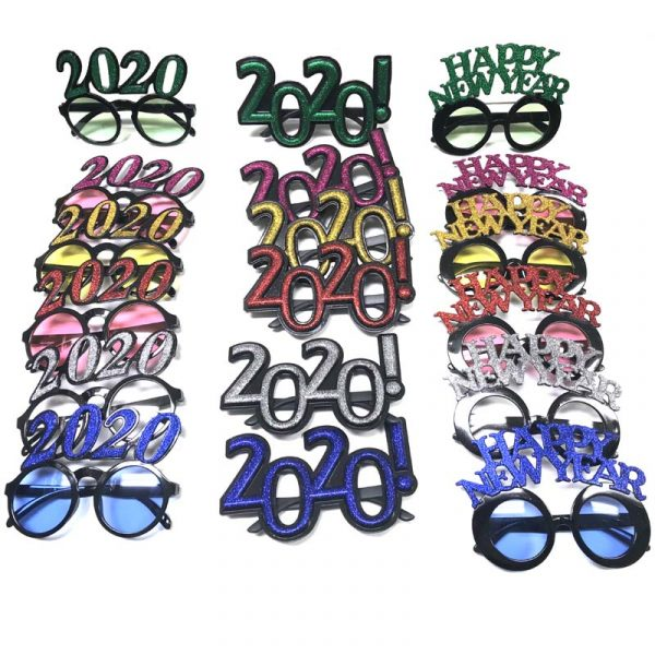 Glittered 202 Happy New Year Sunglasses