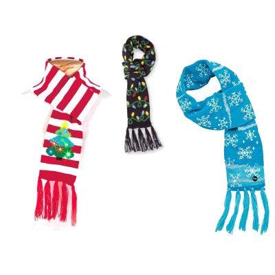 Holiday Fabric Light-up Scarves