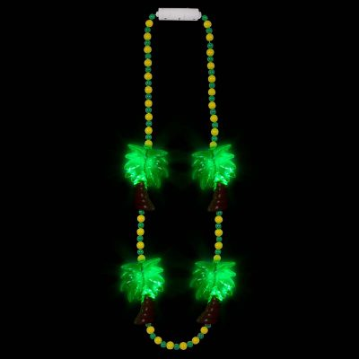 Light Up Palm Trees Necklace