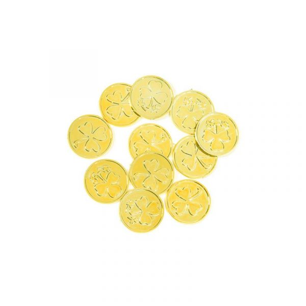 Gold Plated Plastic Clover Coins