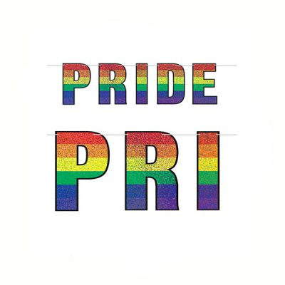 PRIDE Prismatic Letter Streamer