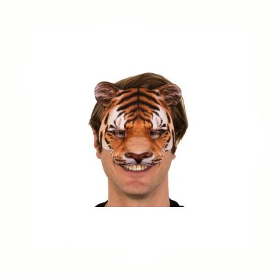 Photo-realistic Printed Fabric Tiger Mask
