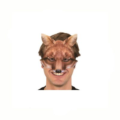 Photo-realistic printed fabric fox mask