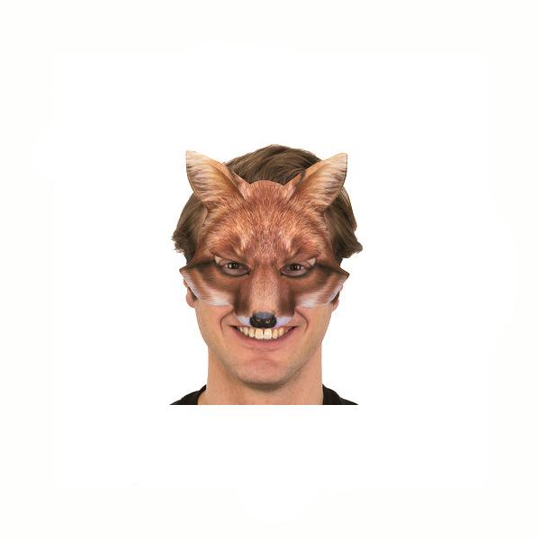 Photo-realistic printed fabric fox mask