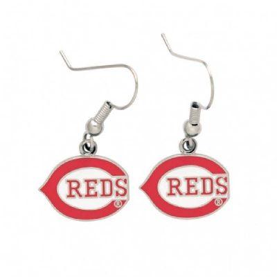 Cincinnati Reds Earrings Wishbone C Logo