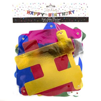 Happy Birthday Foil Letter Banner