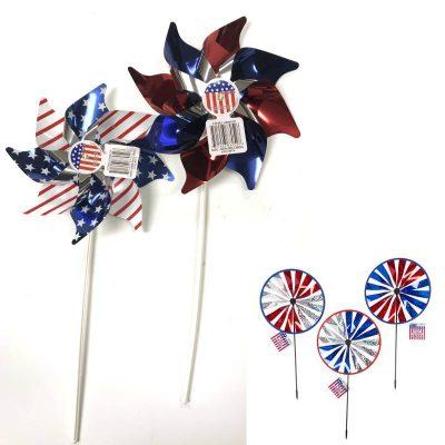 Patriotic Pinwheels-n-Round-wind-spinners