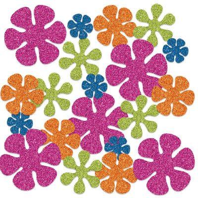 Deluxe Sparkle Retro Flower Confetti