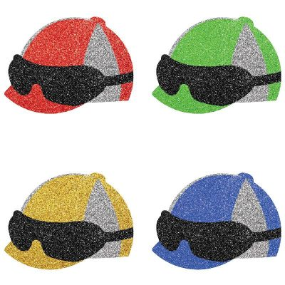 Deluxe Sparkle Jockey Helmet Confetti