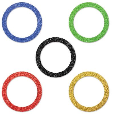 Deluxe Sparkle Sports Party Rings Confetti