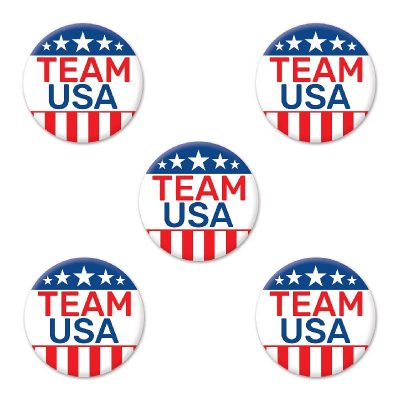 "Team USA 2"" Round Party Buttons"