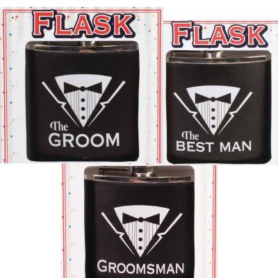 Bachelor Party Items Flask Groom Groomsman Best Man
