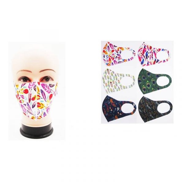 Feathers Face Mask