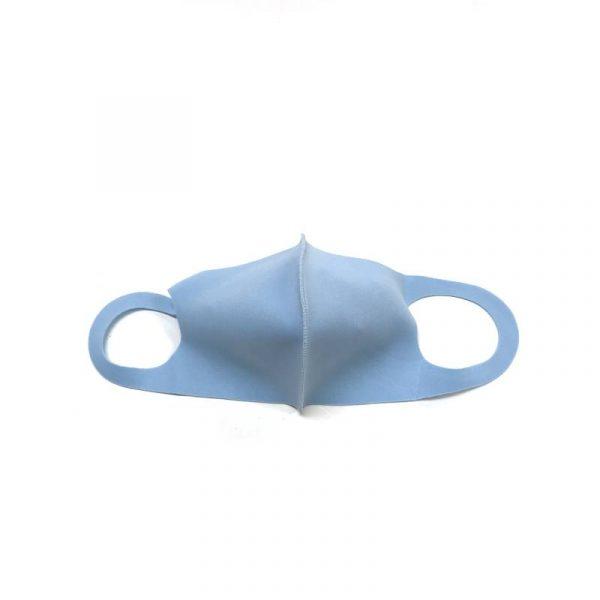 Light Blue Solid-Color Face Mask