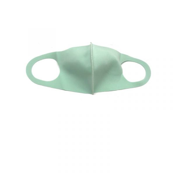 Mint Green Solid-Color Face Mask