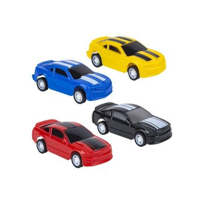3-Inch Party Plastic Pull-Back Race Car