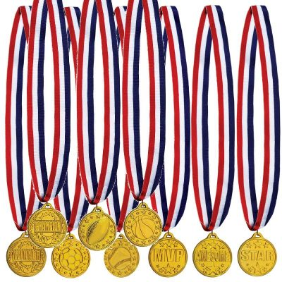 Plastic Round Award Medals with Ribbon