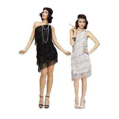 Shimmery Flapper Roaring 20s Costume Dress