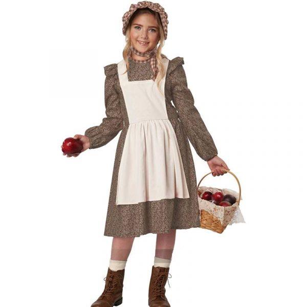 Frontier Girl Settler Pioneer Brown