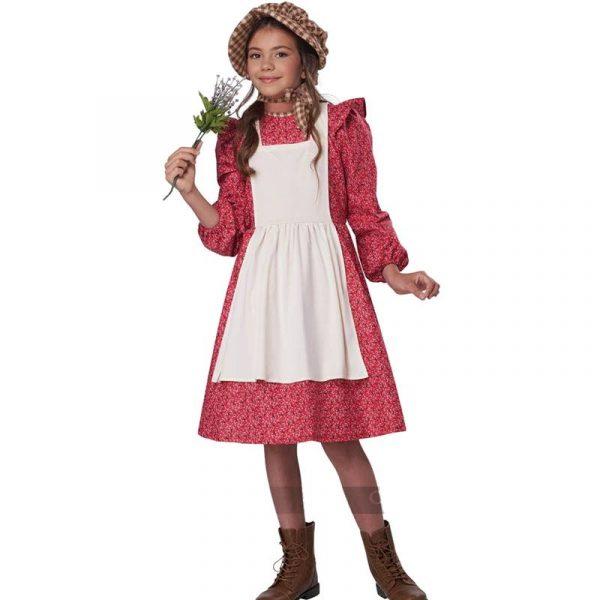 Frontier Girl Settler Pioneer Burgundy