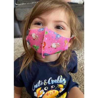 Covid19 child face masks-pink