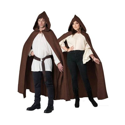Hooded Cloak Brown Robe