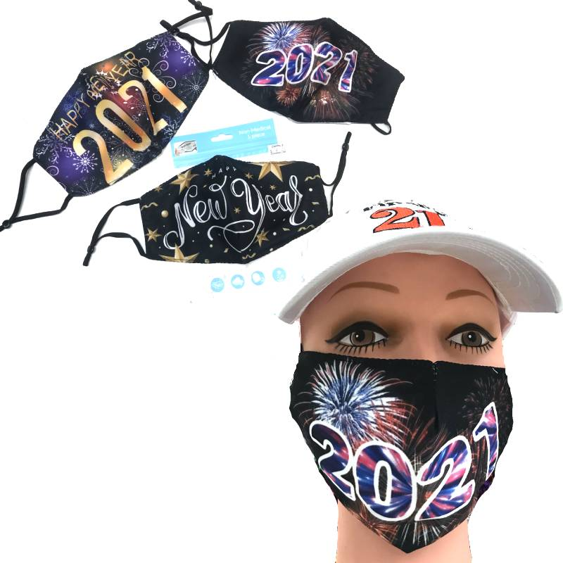 Happy New Year 2021 Face Coverings