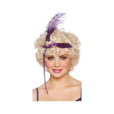 Flapper Wig Short Curly Blonde Wig