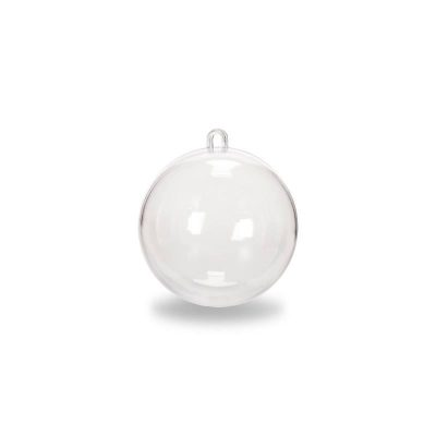 2-Piece Clear Plastic Ornament Ball