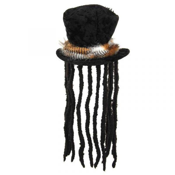 Plush top Hat w Dreads - Witch Doctor - Back