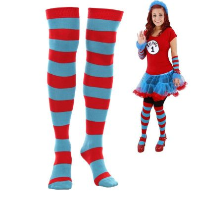 Dr. Seuss Thing 1 Thing 2 Stripey Socks