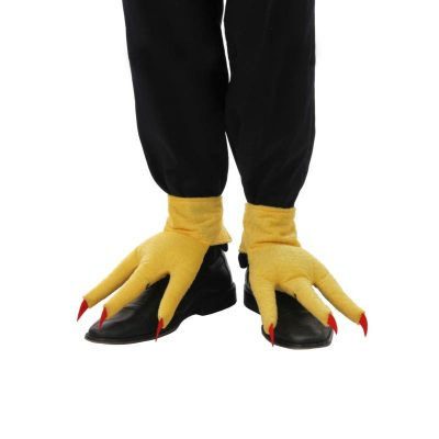 Yellow Fabric Chicken Feet Shoe Covers