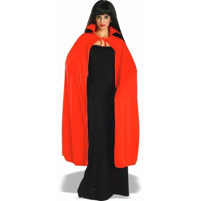 Long Red Cape w collar